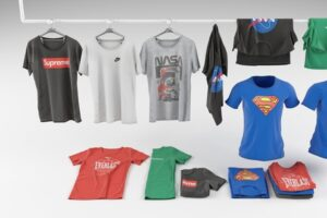 Download T-shirt collection 3D model