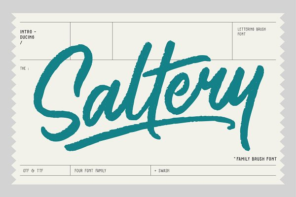 Download Saltery Brush Font