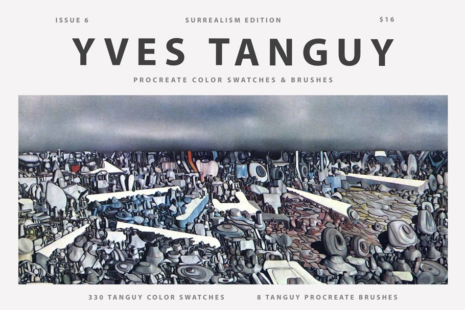 Download Yves Tanguy's Art Procreate Brushes