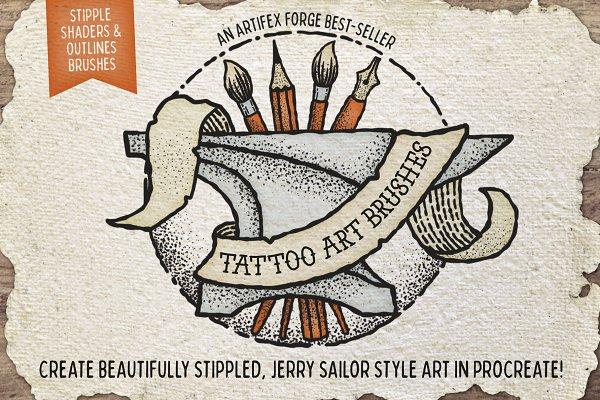 Download Tattoo Art Brushes - Procreate