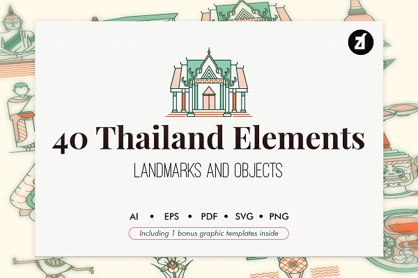 Download 40 Thailand elements with Graphic