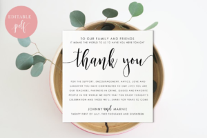 Download Reception Thank You - Editable PDF