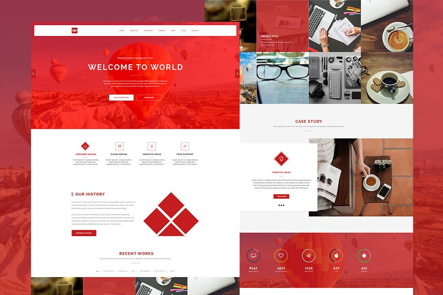 Download WW - One Page Responsive Theme