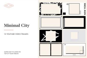 Download 12 Minimal City Youtube Frames