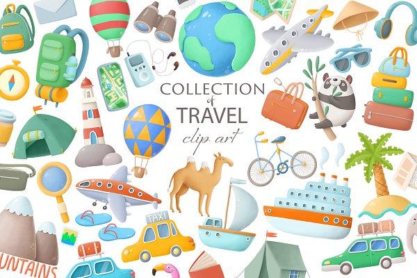 Download Travel clipart set