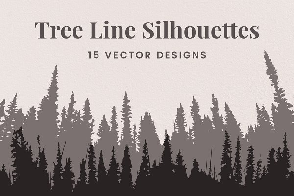 Download Vector Tree Line Silhouettes