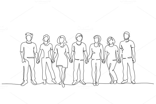 Download Group of people holding hands