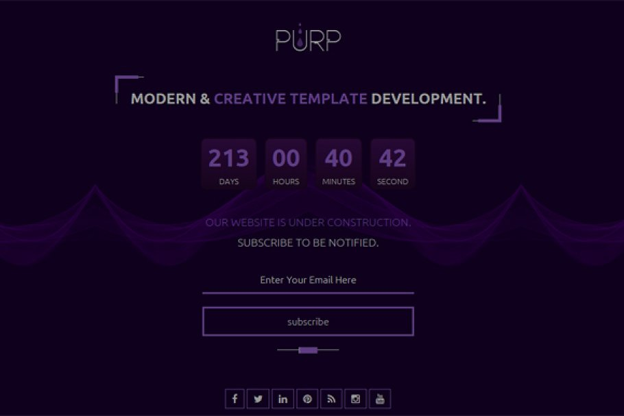 Download PURP- Coming Soon Bootstrap Template
