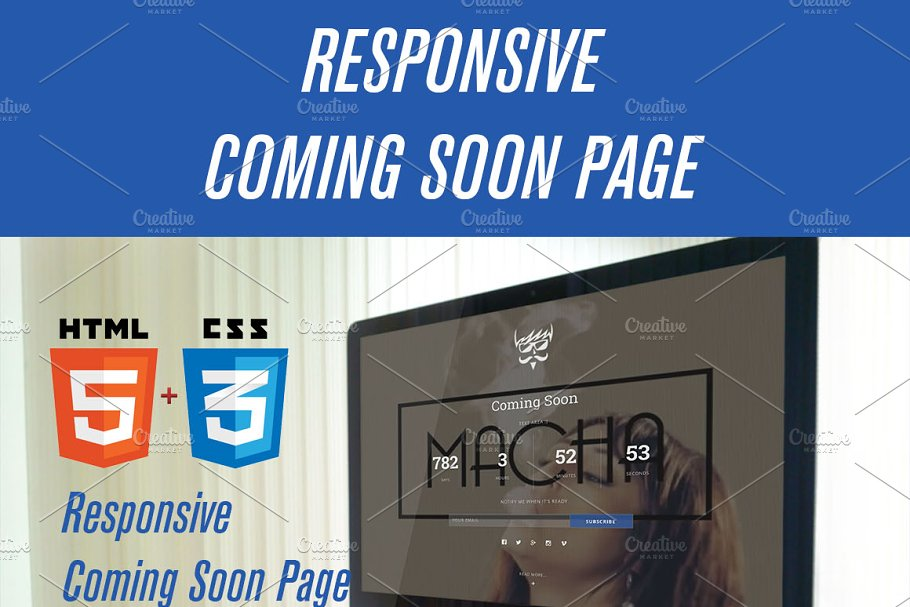 Download Responsive Coming Soon Page HTML/CSS