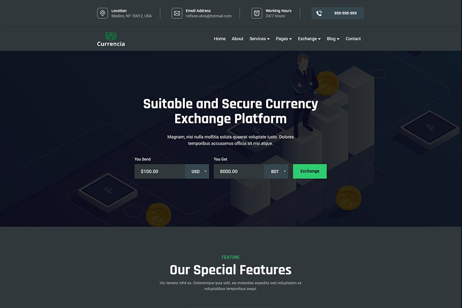 Download Currencia - Exchanger Template