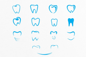 Download Tooth Shapes For Dental Care Logos