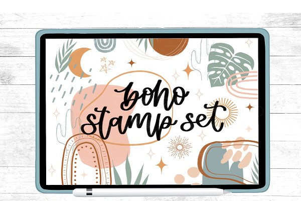 Download Procreate Boho Stamp Set