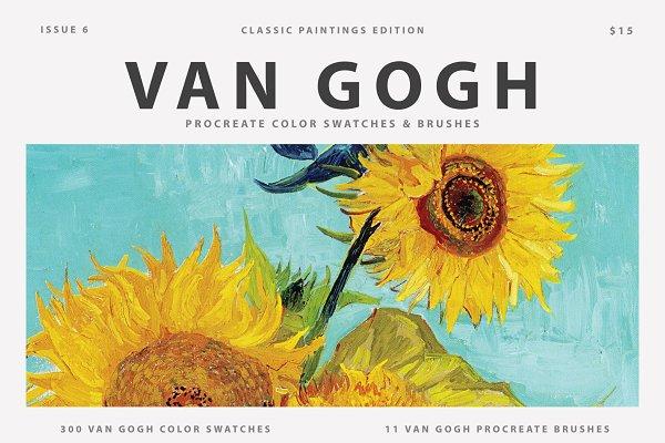 Download Van Gogh's Art Procreate Brushes