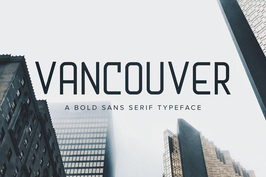 Download Vancouver | A Bold Sans Serif