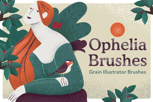 Download Ophelia Grain Vector Brushes