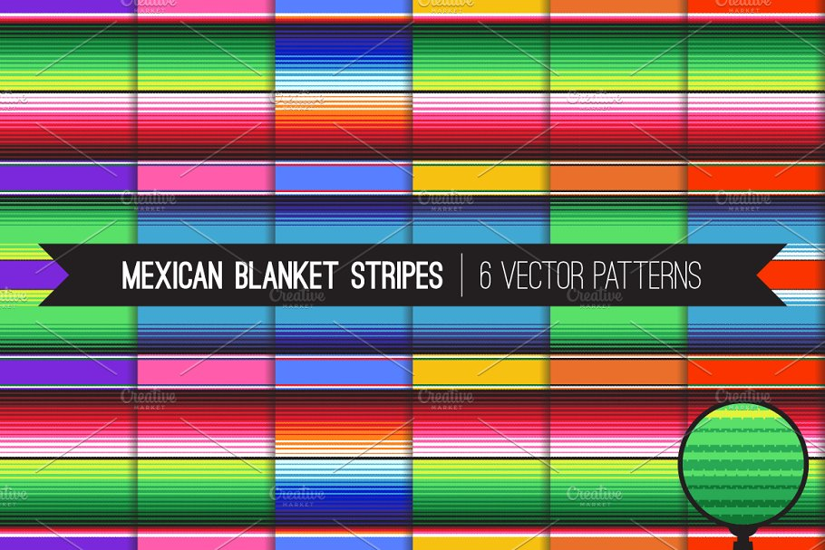 Download Vector Mexican Blanket Stripes