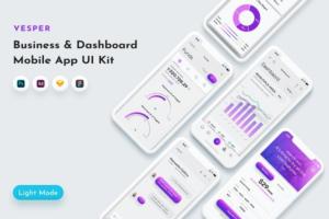 Download Vesper - Dashboard App UI Kit