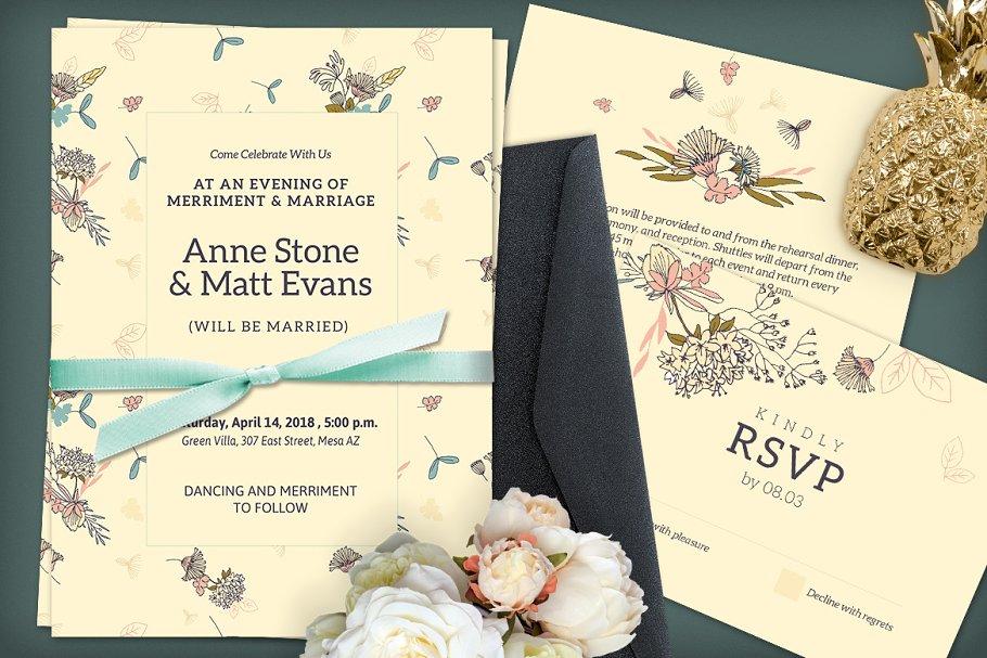 Download Beige Wedding Invitation