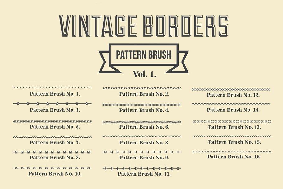 Download Vintage Borders Pattern Brushes