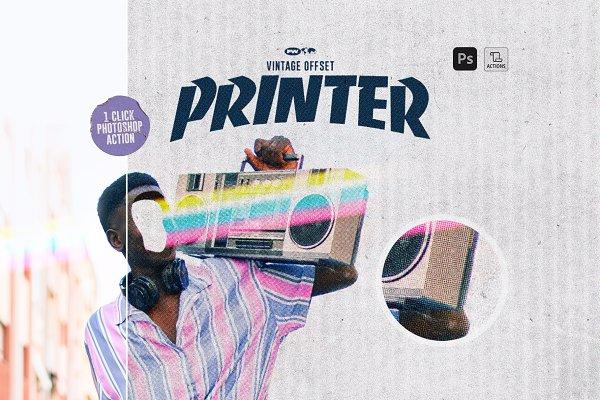 Download Vintage Offset Printer