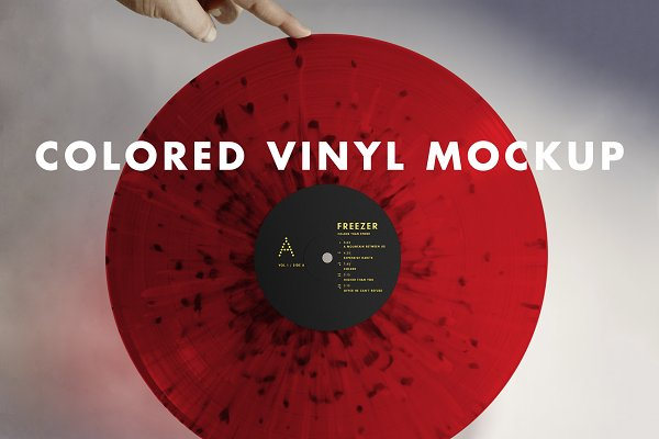 Download Colored Vinyl Record Mockup