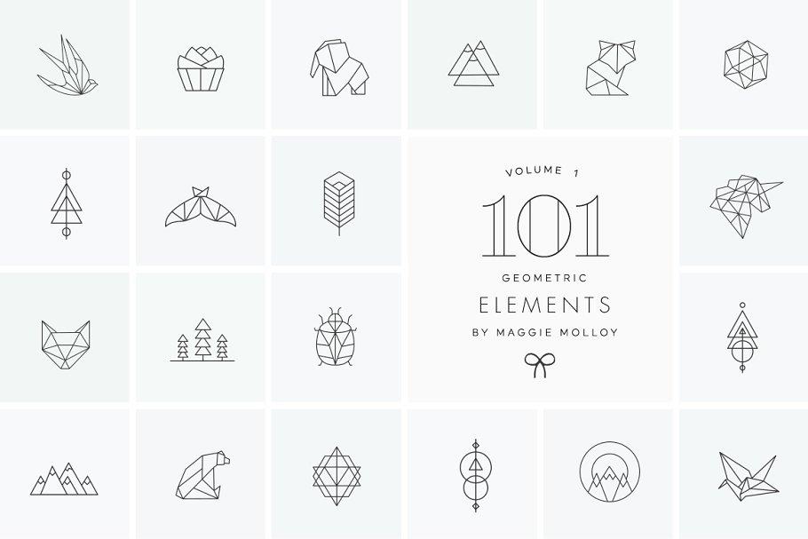 Download 101 Geometric Logo Elements EPS PSD