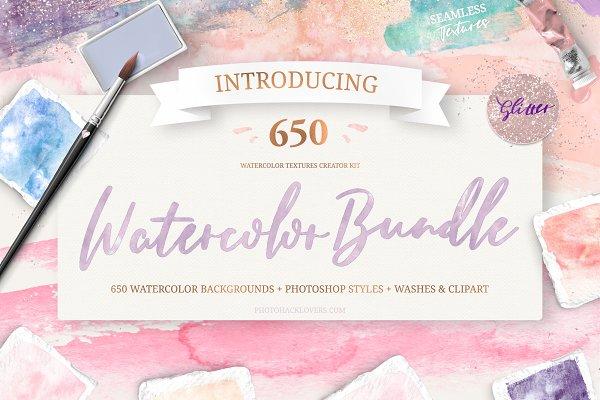 Download Watercolor Textures kit