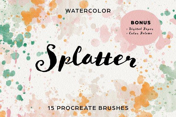 Download Splatter & Speckle Procreate Brushes