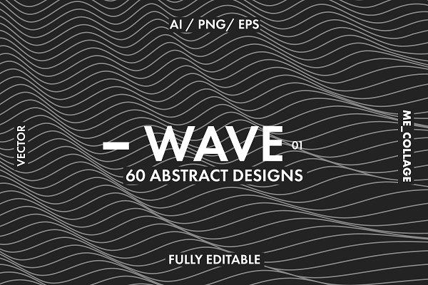 Download WAVE 01 - 60 Linear Vector Designs