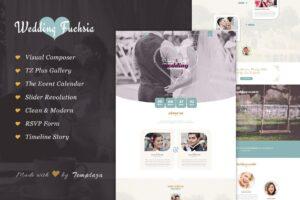 Download Wedding Fuchsia - WordPress Theme