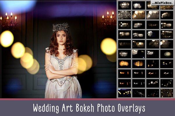 Download Wedding Art Bokeh Photo Overlays