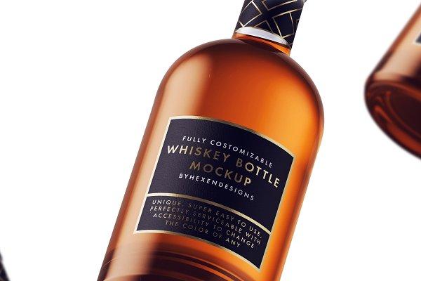 Download Whiskey-Nordic Bottle Mockup