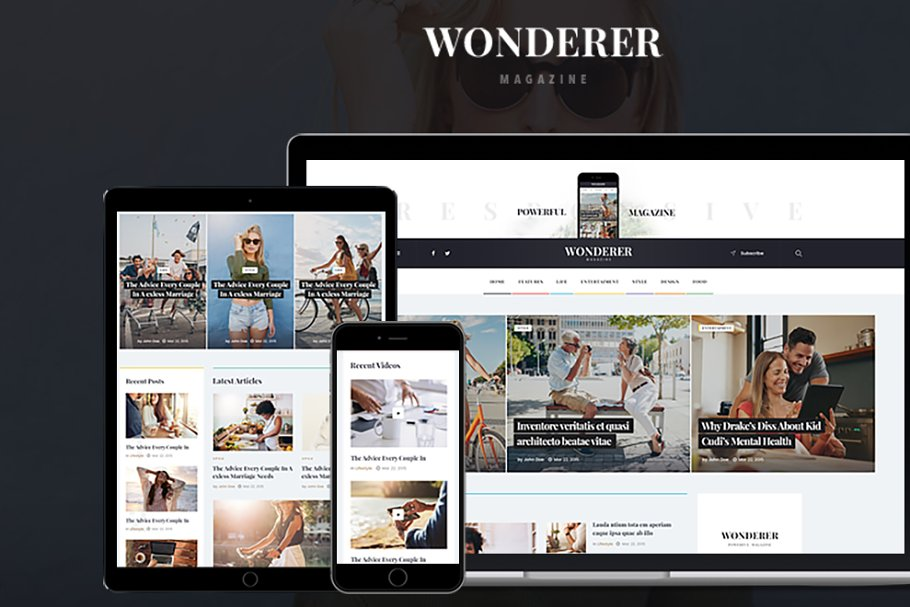Download Wonderer - Personal Blog & Magazine