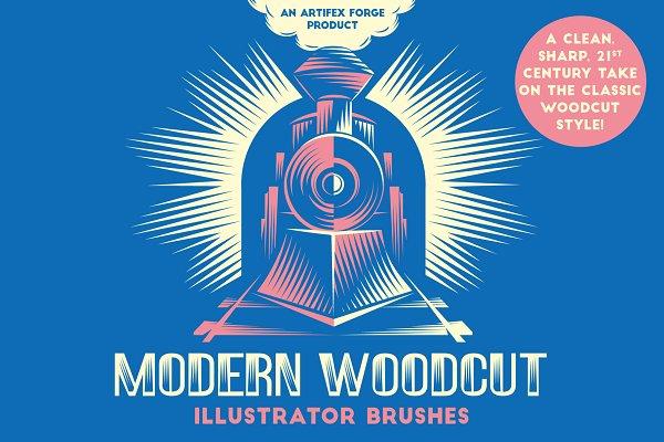 Download Modern Woodcut Brushes