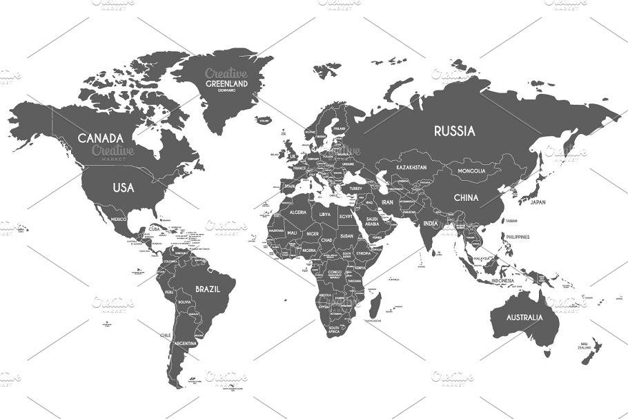 Download 8x B&W World Maps