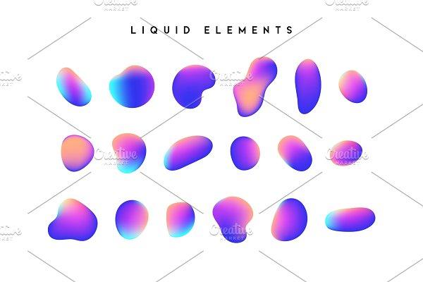Download Gradient iridescent shapes.