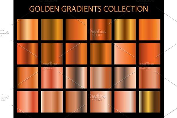 Download 24 vector golden gradients