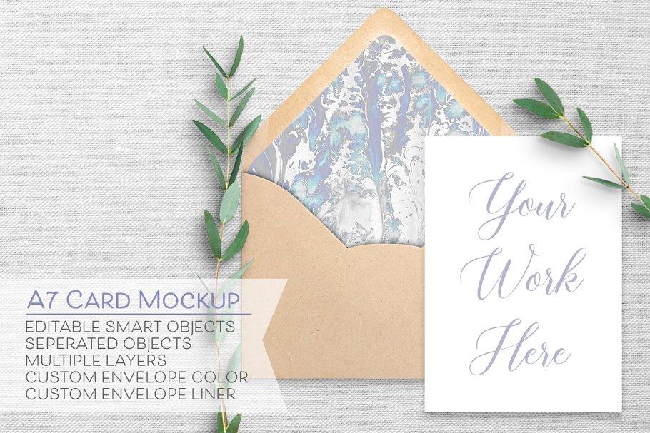 Download SALE - 5x7 Card & Envelope Mockup A7