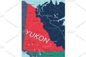 Download Yukon Territory vector editable map