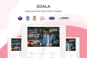 Download Zoala - One Page Template