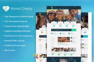Download ZT Charity responsive joomla theme
